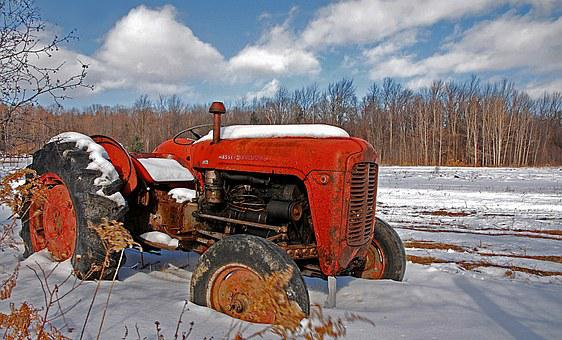 Tractor, Vintage, Agriculture, Equipment, Rural, Farm