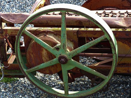 Old, Rusty, Harrow, Detail, Agriculture, Ancient