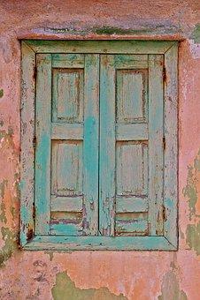 Samos, Greece, Old Window, Nostalgia, Shutters, Wood