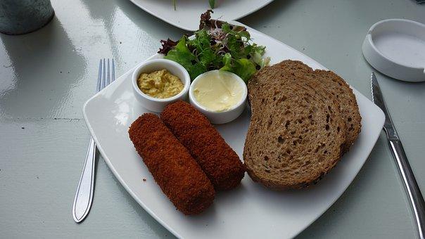 Food, Bread, Slices Of Bread, Brown Bread, Croquettes
