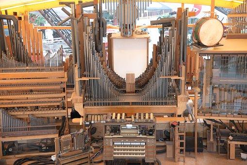 Organ, Retro, Sound, Pipe, Glockenspiel, Harmony, Metal