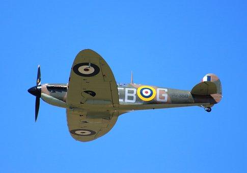Spitfire, Fighter, War, Plane, Airplane, Military