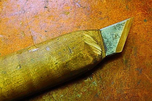 Knife, Carve, Tool, Carving, Wood, Metal, Blade, Steel