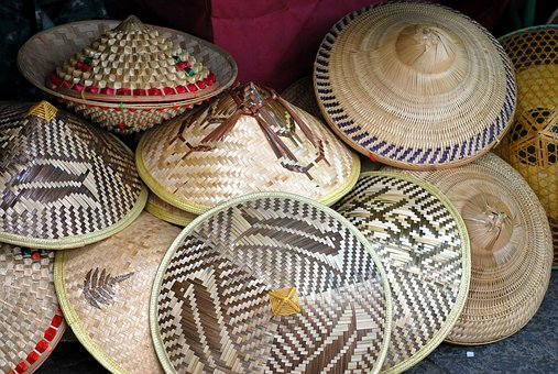 Hat, Hats, Straw, Conical, Rice, Paddy