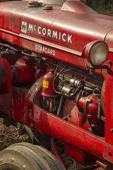 Tractor, Vintage, Agriculture, Retro, Farming