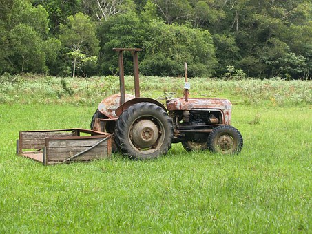 Tractor, Old, Farm, Field, Agriculture, Farming, Rural