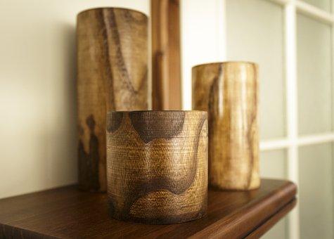 Candle, Candle Holder, Wood, Tree, Decoration, Design