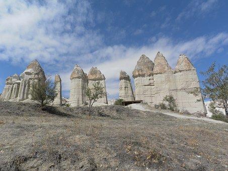 Turkey, Cappadocia, Fairy Chimneys, Mushrooms, Tuff