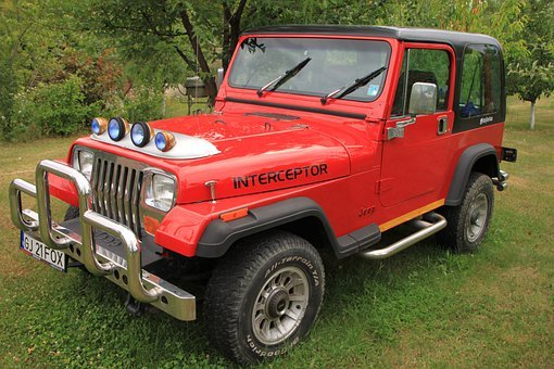 Cars, Jeep, Off Road, Red, Vehicle, Wrangler, Car Parts