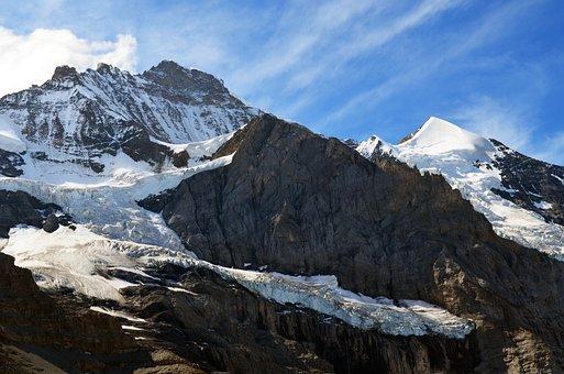 Alpine, High Alps, Glacier, Virgin, Mountains, Rock