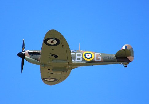 Spitfire, Fighter, War, Plane, Airplane, Military