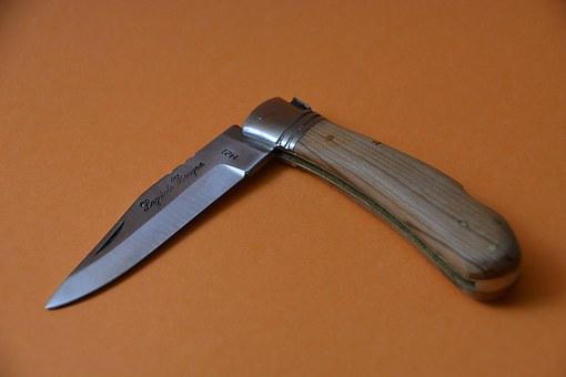 Knife, Laguiole, Blade, Wooden Handle, Clasp-knife