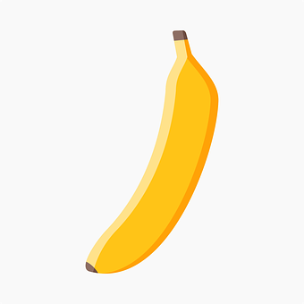 Banana, Fruit, Yellow, Icon, Banana Icon, Drawing