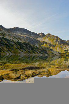 Mountains, Lake, Clear, Clear Waters, Reflection