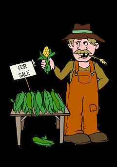Farmer, Corn, Farm, Food, Agriculture, Sell, Market