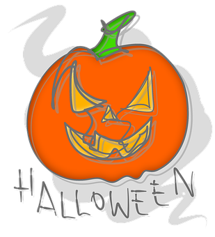 Halloween, Pumpkin, Jack-o'-lantern, Drawing
