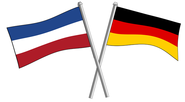 Flags, Germany, Serbia, Friendship