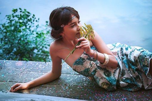 Child, Girl, Model, Female, Young Girl, Portrait, Lake