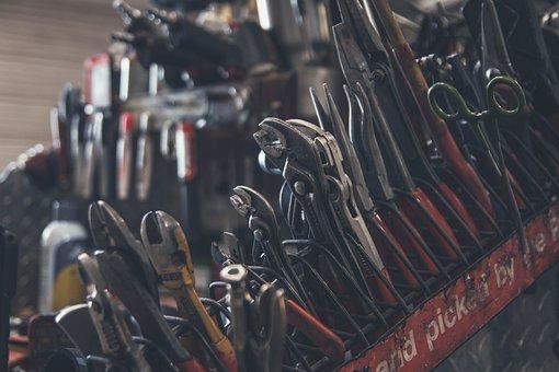 Tools, Screwdrivers, Hammer, Screws, Work Box