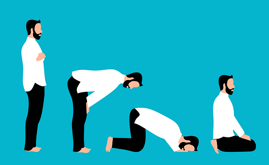 Islamic, Prayer, Poses, Islam, Praying, Cartoon, Muslim