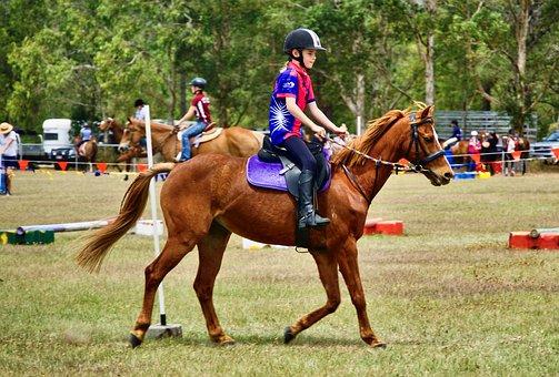 Equestrian, Girl, Horse, Race, Jockey