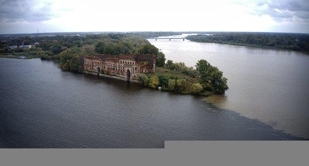 River, Fortress, Landmark, Historic, Historical