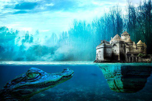 Castle, Palace, Kingdom, Fortress, Lake, Forest