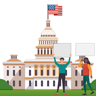 Capitol Hill, Protest, People, Protestors, Us Capitol