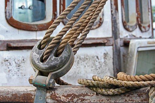 Ropes, Rigging Ropes, Sailing Boat, Sailboat