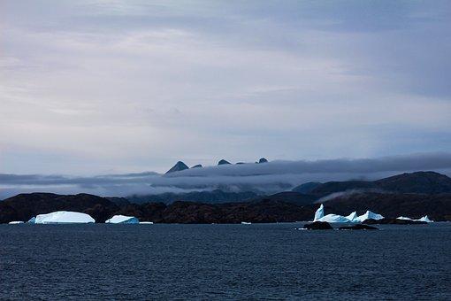 Iceberg, Ice, Sea, Ocean, Fog, Coast