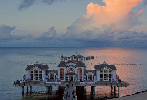 Sea, Pier, Resort, Architecture, Building, Bridge