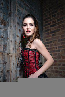 Woman, Vampire, Costume, Dracula, Blood, Spooky, Gothic