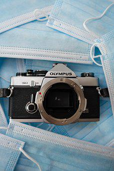Camera, Olympus, Masks, Coronavirus, Pandemic, Disease