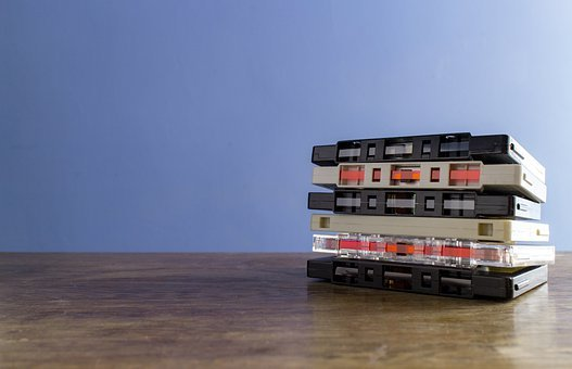 Cassette, Tape, Music, Old, Vintage, Retro, Pile, Stack