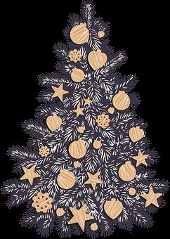 Christmas, Tree, Ornaments, Christmas Tree