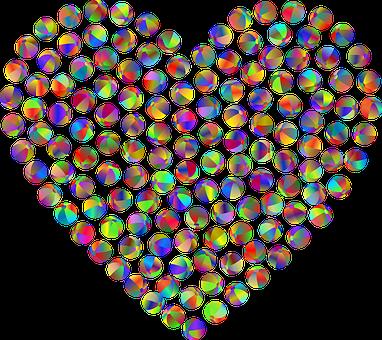 Heart, Balls, Love, Beach Balls, Colorful, Prismatic