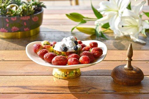 Strawberries, Fruit, Food, Dessert, Snack, Healthy