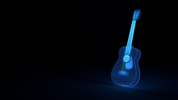 Guitar, Wireframe, Music, Acoustic Guitar, Instrument