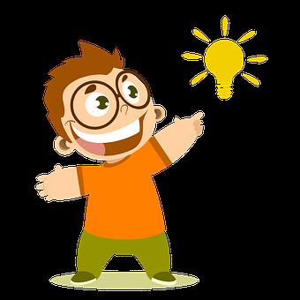 Boy, Idea, Knowledge, Joy, Thought