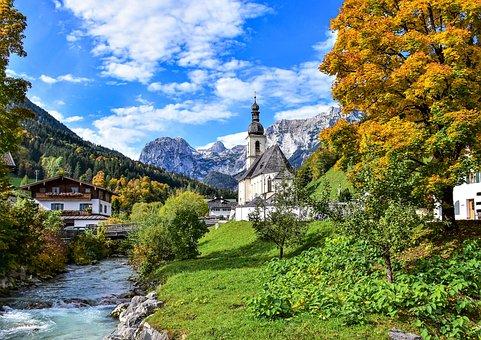 Church, River, Landscape, Chapel, Parish Church