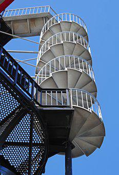 Spiral Staircase, Stairs, Spiral, Platform, Lighthouse