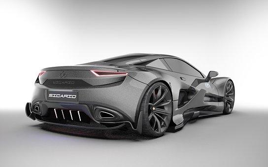 Luxury Car, Car, Vehicle, Futuristic Car Design