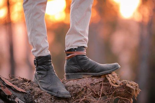 Boots, Man, Cowboy, Leather Boots, Cowboy Boots, Legs