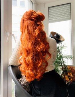 Hair, Red Hair, Long Hair, Model, Ginger, Curls, Woman