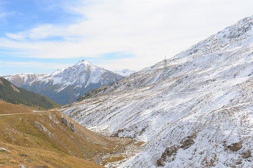 Mountains, Snow, Landscape, Mountain Range, Mountainous
