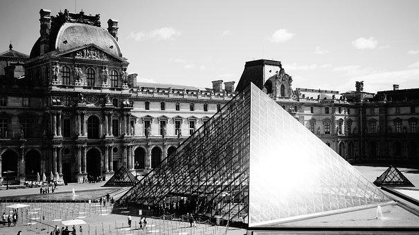 Louvre, Paris, Museum, France, Building, Architecture