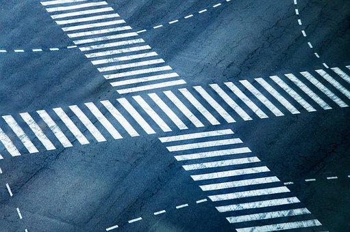 Crossing, Asphalt, Road, Path Way, Junction