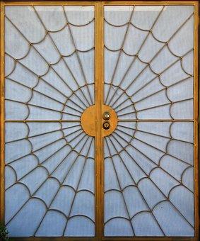 Door, Spiderweb, Design, Pattern, Web, Halloween
