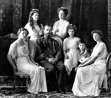 Family, Photograph, Portrait, Russian