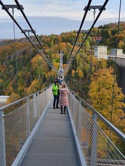 Suspension Bridge, Resin, Rappbodetalsperre